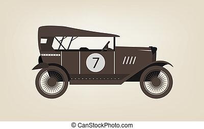 vendemmia, vettore, automobile