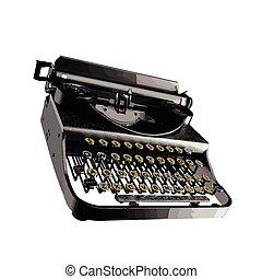 vendemmia, vettore, macchina scrivere