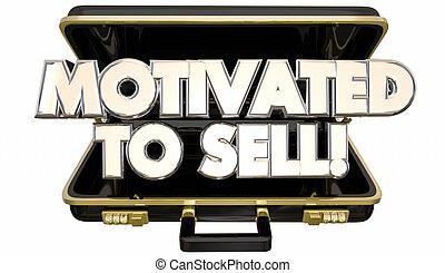 vendere, motivato, cartella, persona vendite, atteggiamento, parole, ambizione, 3d
