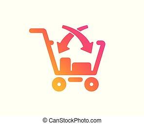 vendere, segno., croce, vettore, icon., vendita dettaglio, mercato