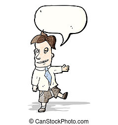 vendeur, dessin animé