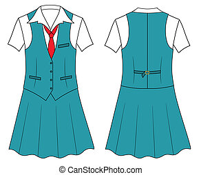 vendeur, femme, caissier, ou, vêtements