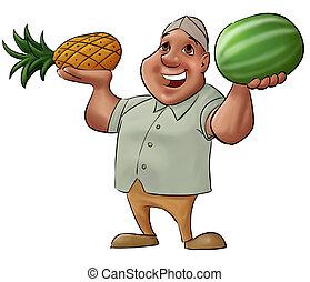 vendeur fruit