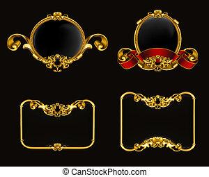 vendimia, 10eps, conjunto, emblema, negro