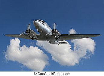 vendimia,  2, avión,  airliner/cargo