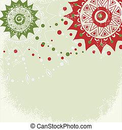 vendimia, año, plano de fondo, grungy, nuevo, navidad