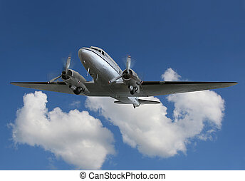 vendimia, airliner/cargo, avión, 2