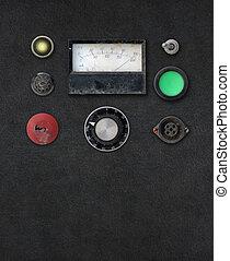 vendimia, amperio, tablero de instrumentos, metro