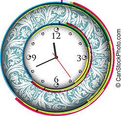 vendimia, antiguo, reloj