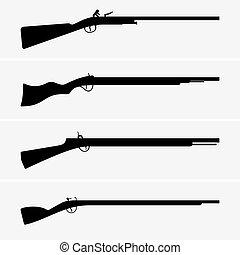 vendimia, armas de fuego