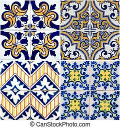 vendimia, azulejos, cerámico