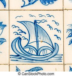 vendimia, azulejos, portugués