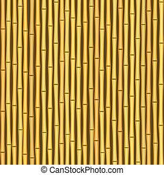 vendimia, bambú, pared, seamless, textura, plano de fondo