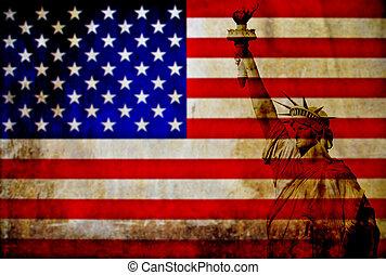 vendimia, bandera de los e.e.u.u