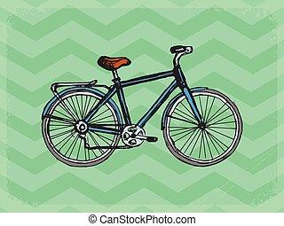 vendimia, bicicleta, plano de fondo