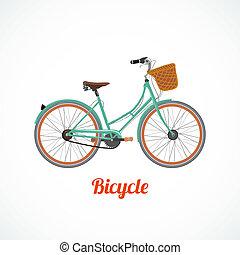 vendimia, bicicleta, símbolo