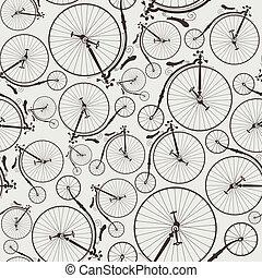 vendimia, bicicleta, seamless