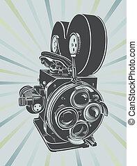 vendimia, cámara video