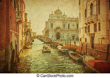 vendimia, canales, venecia, imagen