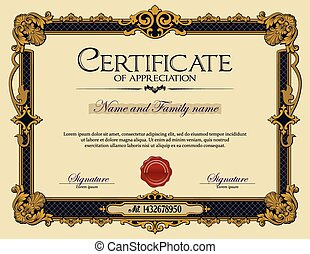 vendimia, certificado, aprecio