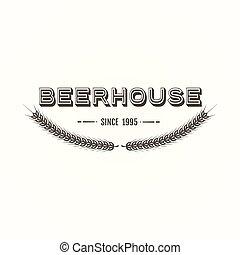 vendimia, cerveza, emblema