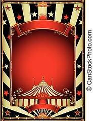 vendimia, circo, agradable, entretenimiento