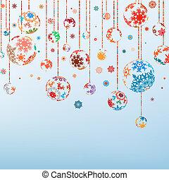 vendimia, eps, year., alegre, 8, nuevo, navidad, feliz