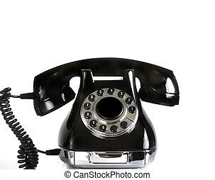 vendimia, esfera, teléfono rotatorio