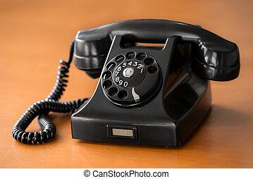 vendimia, esfera, viejo, teléfono rotatorio
