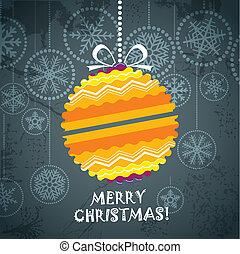 vendimia, estilo, tarjeta de navidad