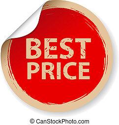 vendimia, etiqueta, mejor, precio