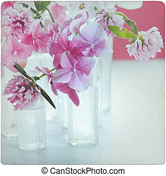 vendimia, flor, plano de fondo