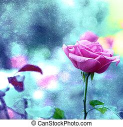 vendimia, flores, plano de fondo