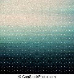 vendimia, fondo., agua, surface., vector, illustration.