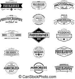vendimia, fotografía, insignias