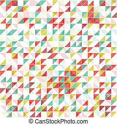 vendimia, geométrico, colores, plano de fondo