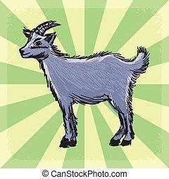 vendimia, goat, plano de fondo