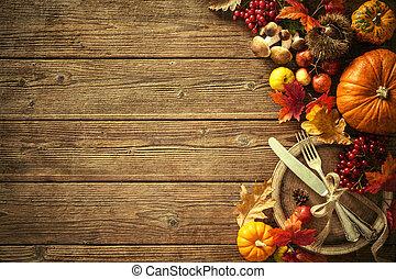 vendimia, hojas, otoño, ajuste, lugar, plano de fondo,...