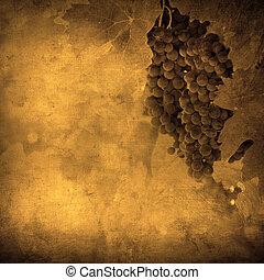 vendimia, imagen, uva