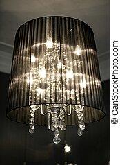 vendimia, lámpara, araña de luces
