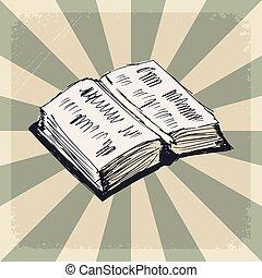 vendimia, libro, plano de fondo