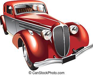 vendimia, lujoso, coche