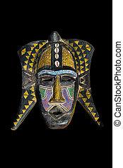 vendimia, máscara, africano
