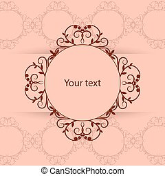 vendimia, marco, con, lugar, para, su, text.