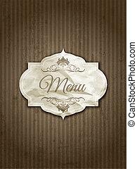 vendimia, menú, diseño