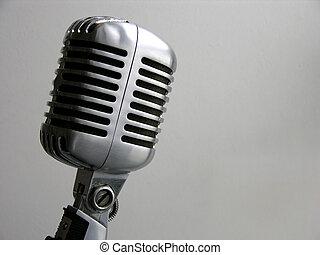 vendimia, micrófono