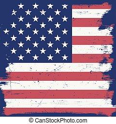 vendimia, norteamericano, bandera