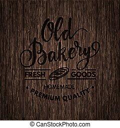 vendimia, panadería, caligrafía, logotipo