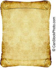 vendimia, papel, pergamino, rúbrica