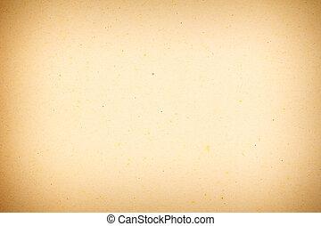 vendimia, papel, textura, yellowed